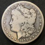 США 1879 г. СС(Карсон-сити)• KM# 110 • 1 доллар •