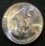 Филиппины 1947 г. S • KM# 184 • 50 сентаво • генерал Дуглас Макартур • памятный выпуск • MS BU люкс!
