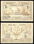 Новая Каледония 1943 г. P# 56b • 2 франка • шахты • регулярный выпуск • UNC пресс