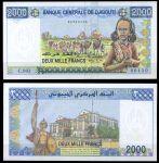 Джибути 2005 г. P# 43 • 2000 франков • Караван верблюдов • регулярный выпуск • UNC пресс