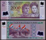 Парагвай 2009 г. P# 228 • 2000 гуарани • сестры Сператти • регулярный выпуск • полимер • UNC пресс
