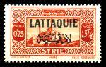 Латакия 1931-1933 гг. • SC# 8 • 75 с.(0.75 pi.) • надпечатка на осн. выпуске марок Сирии • MNH OG VF