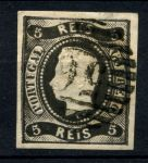 ПОРТУГАЛИЯ 1866-7гг. SC# 17 / 5r. USED / XF