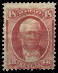 Гаваи 1864-1886 гг. • SC# 34 • 18 c. • Матойо Кекуанаоа • Mint NG VF ( кат.- $100- )