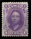 Гаваи 1864-1886 гг. • SC# 30 • 1 c. • принцесса Виктория Камамалу • Mint NG VF ( кат.- $10 )