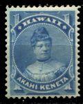 Гаваи 1882 г. • SC# 37 • 1 c. • принцесса Лайклике • MH OG VF ( кат.- $10 )