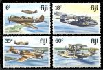 Фиджи 1981 г. • SC# 454-7 • 6 - 60 c. • Боевые самолеты времен WW II • MNH OG XF+ • полн. серия ( кат. - $12 )