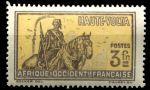 Верхняя Вольта 1928 г. • Iv# 62 • 3 fr. • осн. выпуск • конный воин • MH OG VF ( кат. - €5 )