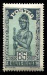 Верхняя Вольта 1928 г. • Iv# 55 • 65 c. • осн. выпуск • девушка с посохом • MH OG VF ( кат. - €3.50 )