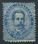 ИТАЛИЯ 1879г. SC# 48 / 25c. / UNUSED / cat. - 125$