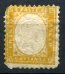 ИТАЛИЯ 1862г. SC# 21 / 80c. / UNUSED / cat.- 70$