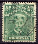 РОДЕЗИЯ 1913-22гг. GB# 187 / 1/2d. / USED VF