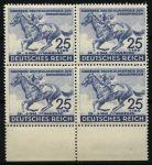 Германия 3-й рейх 1942 г. • Mi# 814 • 25 + 100 pf. • Скачки, Немецкое дерби, Гамбург • MNH OG XF+ • кв. блок ( кат. - €100+ )