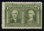 Канада 1908 г. • SC# 100 • 7 c. • 300-летие Квебека • MH OG VF- ( кат.- $175 )