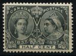 Канада 1897 г. • SC# 50 • ½ c. • Королева Виктория • 60-летний юбилей правления • MH OG VF ( кат.- $140 )
