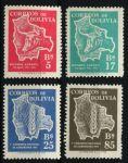 Боливия 1954 г. • SC# 384-7 • 5 - 85 b. • Аграрная реформа • MH OG VF • полн. серия