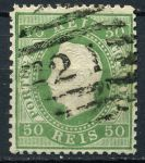 ПОРТУГАЛИЯ 1870-84гг. SC# 42a / 50r. USED VF-XF