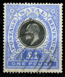 Натал 1902г. GB# 142 / 1pnd. / Used VF