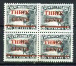 НЬЮФАУНДЛЕНД 1929г. GB# 188 / 3c. MNH OG VF КВ. БЛОК