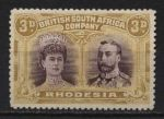 РОДЕЗИЯ 1910-3гг. GB# 134 / 3d. UNUSED XF