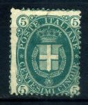 ИТАЛИЯ 1889г. SC# 52 / 5c. UNUSED F-VF R