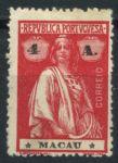Макао • 1913 г. • SC# 214 • 4 a. • богиня Церера • стандарт • MH OG VF ( кат. - $7 )