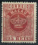 Макао • 1884-1885 гг. • SC# 6 • 25 r. • 1-й выпуск • стандарт • MH OG VF ( кат. - $25 )