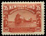 Ньюфаундленд 1897 г. • SC# 73 • 35 c. • 400-летие открытия Ньюфаундленда • айсберг Сент-Джон • MH OG VF ( кат.- $ 120 )