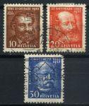 Швейцария 1932 г. • SC# 216-8 • 10 - 30 c. • 50-летие открытия тоннеля Сен-Готард • полн. серия • Used VF ( кат.- $7 )