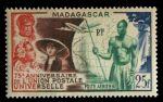 Мадагаскар 1949 г. • Iv# A73 • 25 fr. • 75-летие Всемирного Почтового Союза(UPU) • авиапочта • MNH OG VF ( кат.- €6 )