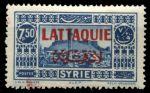Латакия 1931-1933 гг. • SC# 17 • 7.50 pi. • надпечатка на осн. выпуске марок Сирии • MH OG VF