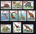 Польша 1965 г. • Mi# 1570-9 • 20 gr. - 6.50 zt. • Доисторические животные (динозавры) • Used(ФГ)/** VF • полн. серия ( кат.- €3 )