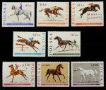 Польша 1967 г. • Mi# 1740-7 • 10 gr. - 7 zt. • Спортивные породы лошадей • MNH OG VF • полн. серия ( кат.- €10 )
