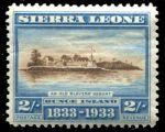Сьерра-Леоне 1933 г. • Gb# 177 • 2 sh. • 100-летие отмены рабства • лагерь рабов на острове Бунс • MH OG VF ( кат. - £35 )